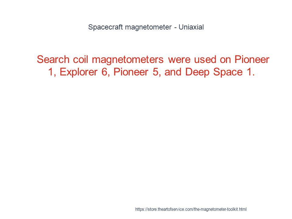 Spacecraft magnetometer - Uniaxial