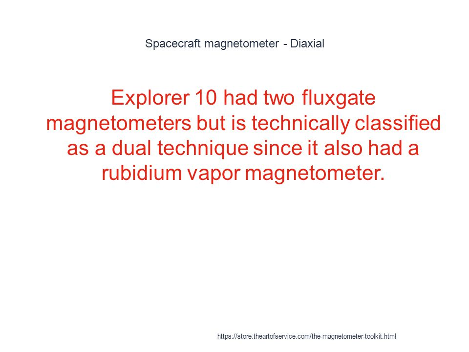 Spacecraft magnetometer - Diaxial
