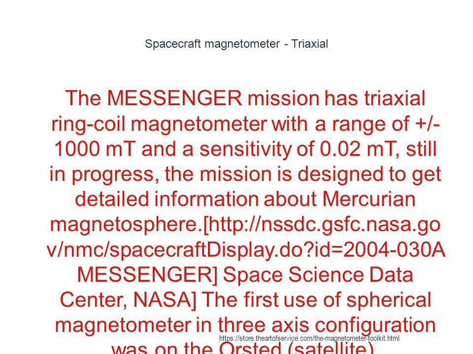Spacecraft magnetometer - Triaxial