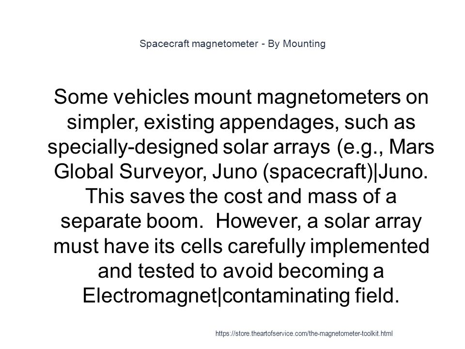 Spacecraft magnetometer - By Mounting
