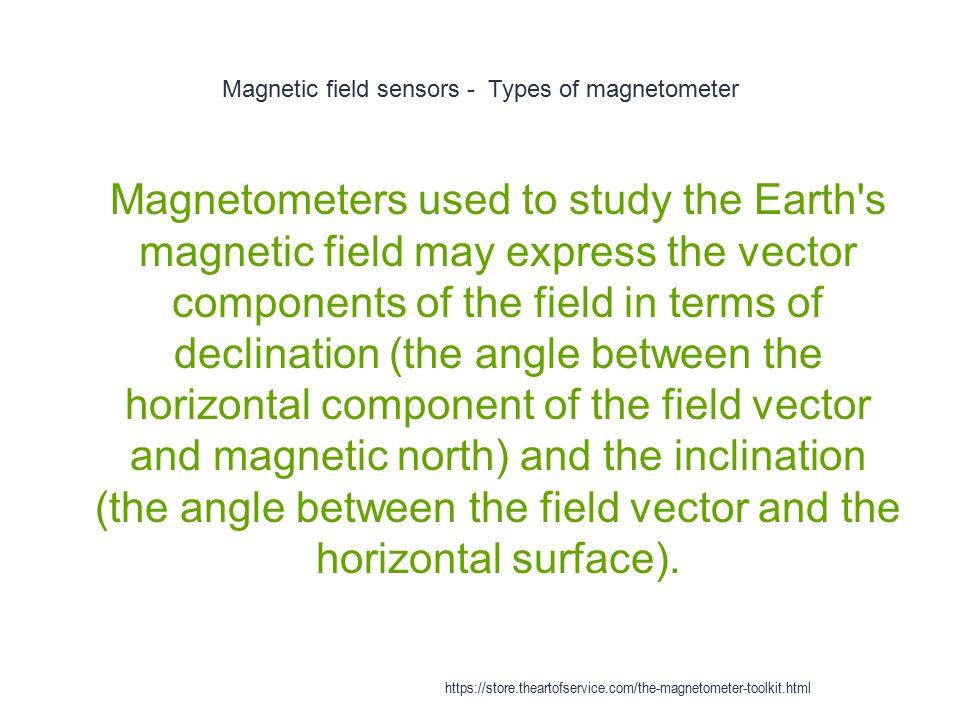 Magnetic field sensors - Types of magnetometer