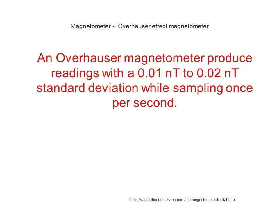 Magnetometer - Overhauser effect magnetometer