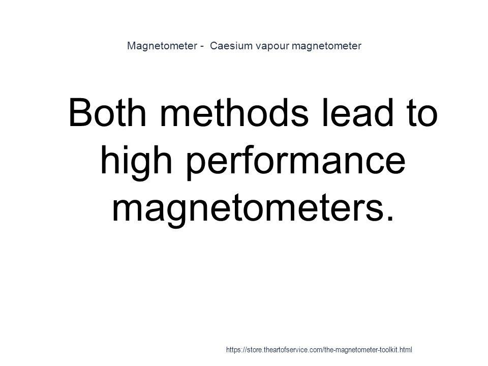 Magnetometer - Caesium vapour magnetometer