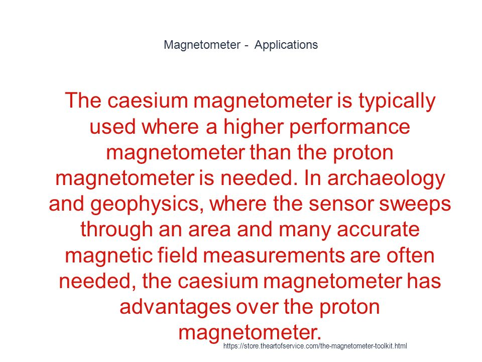 Magnetometer - Applications