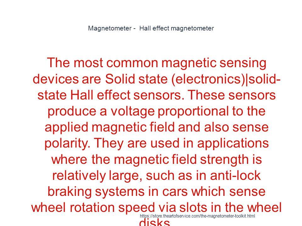 Magnetometer - Hall effect magnetometer