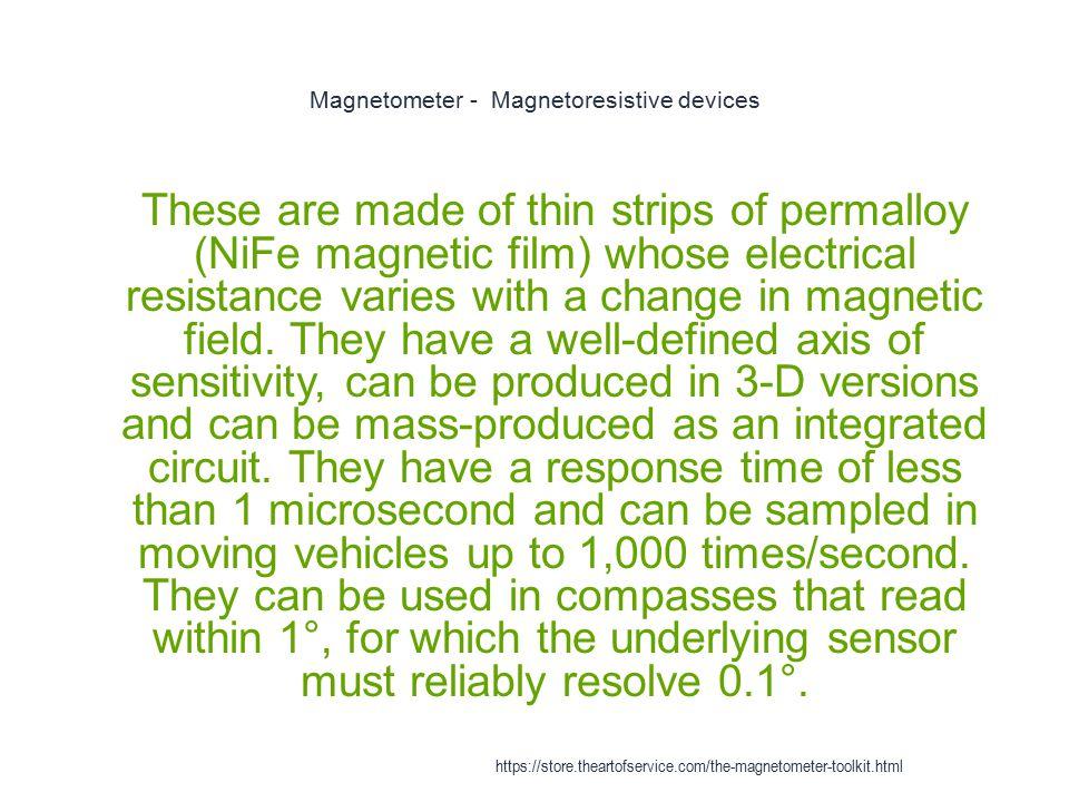 Magnetometer - Magnetoresistive devices