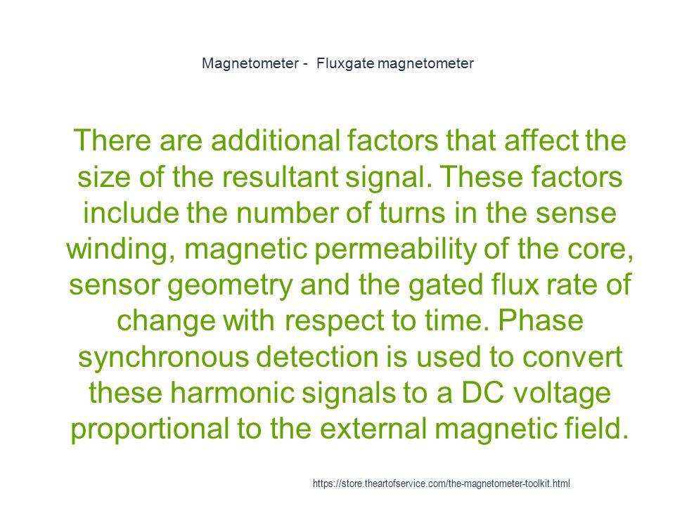 Magnetometer - Fluxgate magnetometer