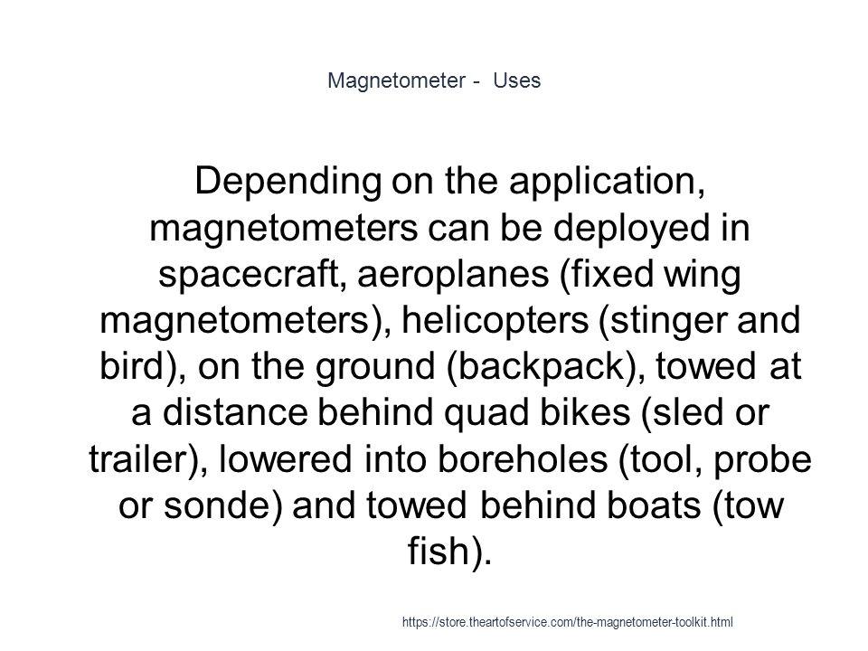 Magnetometer - Uses
