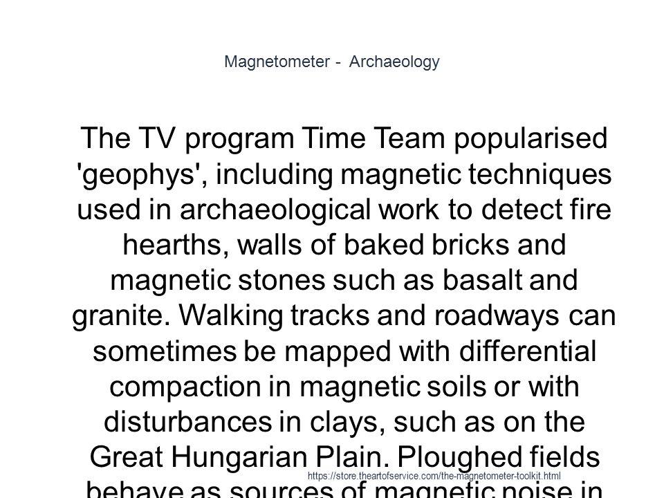 Magnetometer - Archaeology