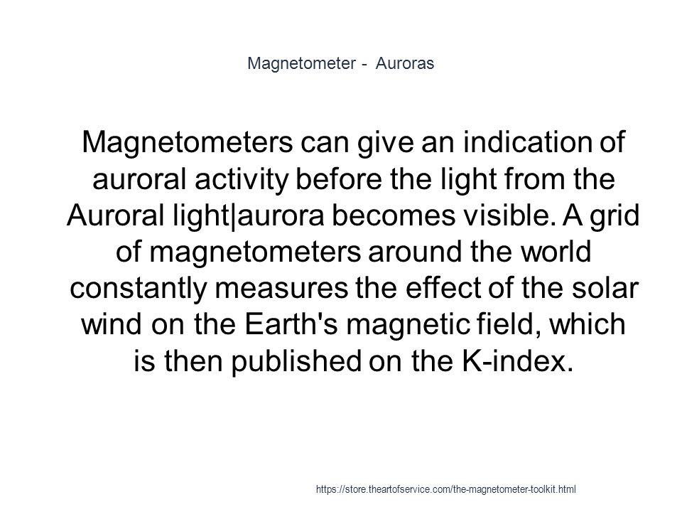 Magnetometer - Auroras