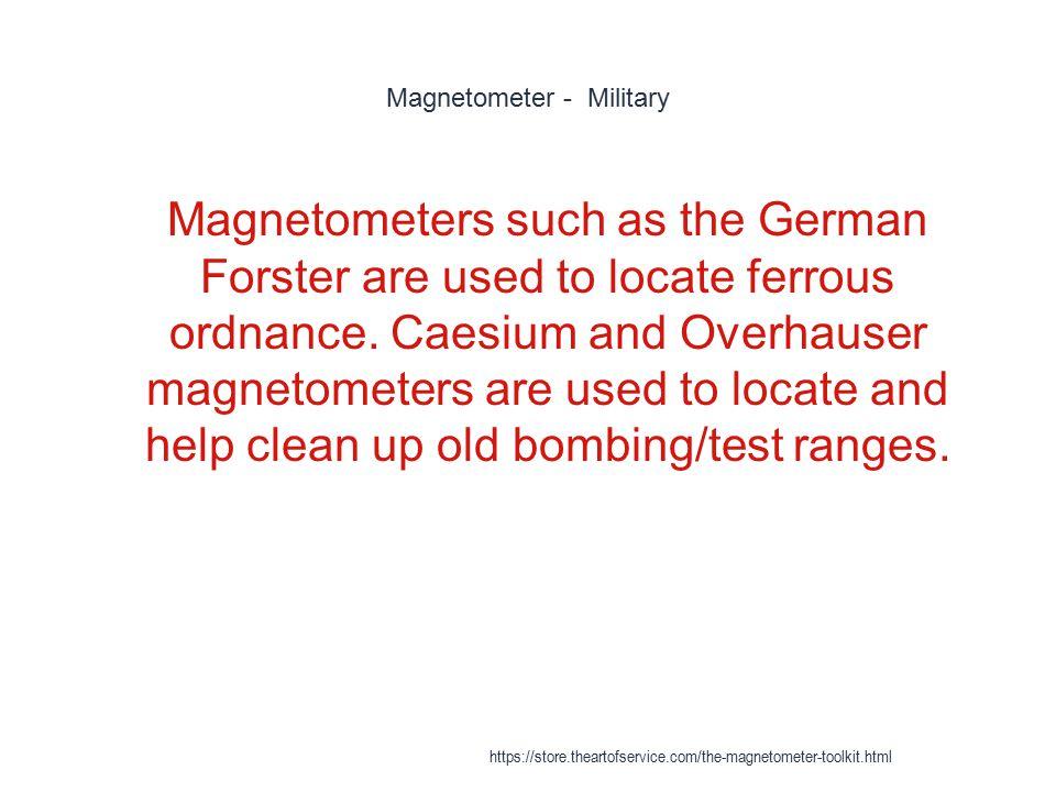 Magnetometer - Military