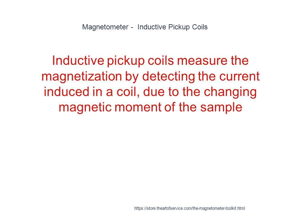 Magnetometer - Inductive Pickup Coils