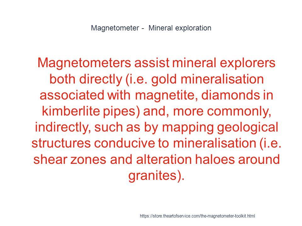 Magnetometer - Mineral exploration