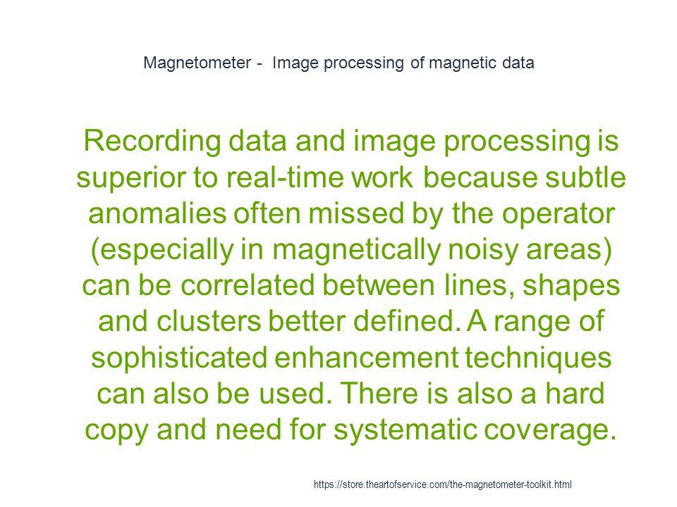 Magnetometer - Image processing of magnetic data