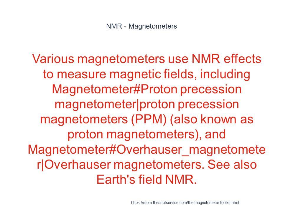NMR - Magnetometers