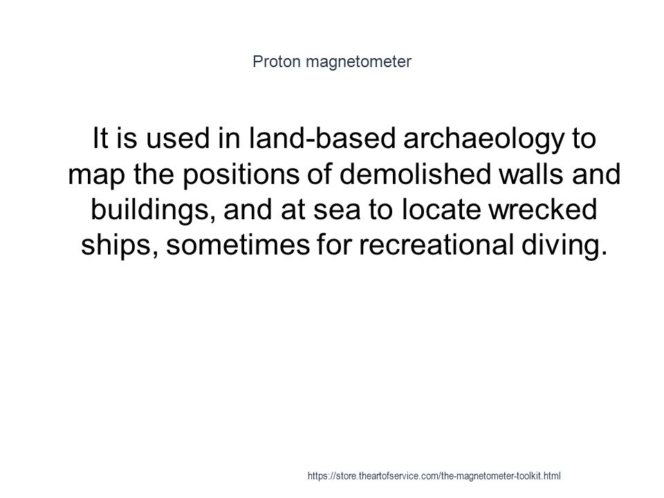 Proton magnetometer