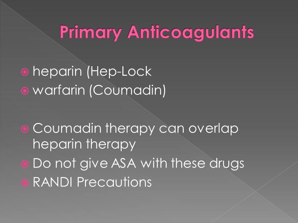 Primary Anticoagulants