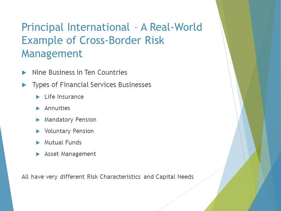 Principal International – A Real-World Example of Cross-Border Risk Management