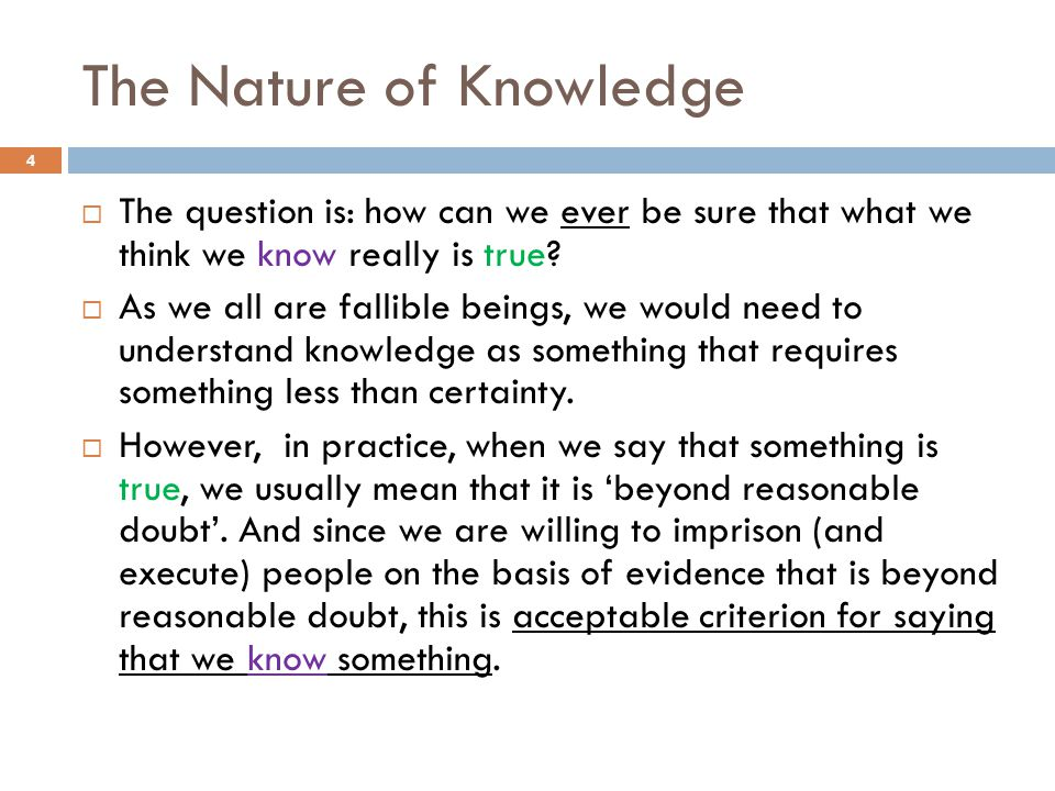 The Nature of Knowledge