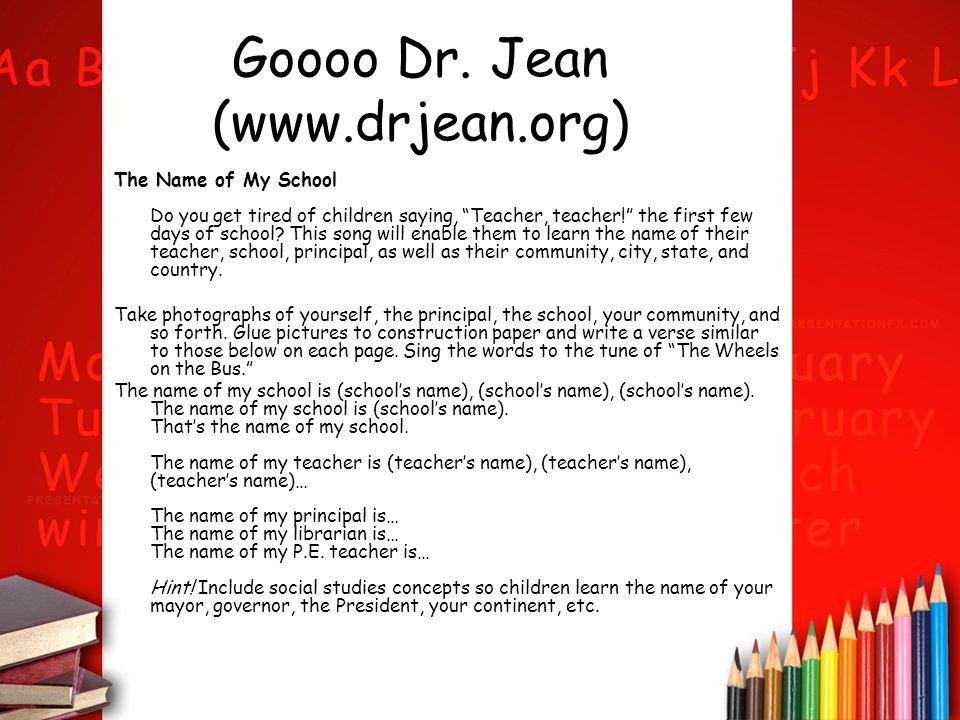Goooo Dr. Jean (www.drjean.org)
