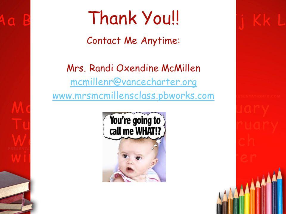 Mrs. Randi Oxendine McMillen