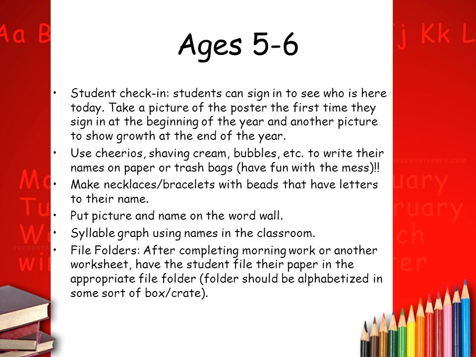 Ages 5-6