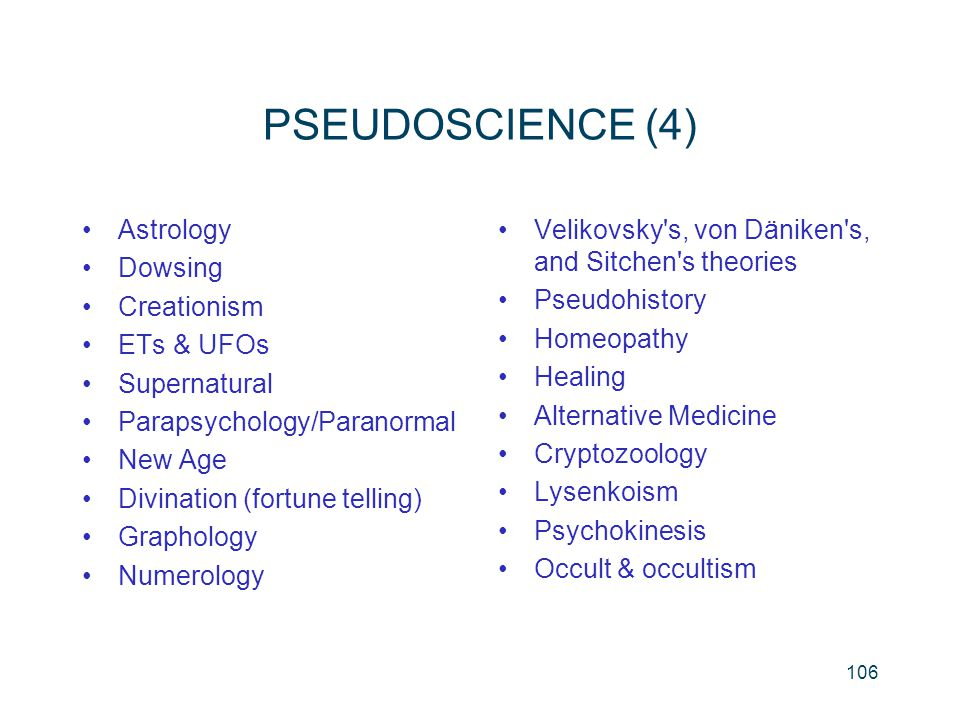PSEUDOSCIENCE (4) Astrology Dowsing Creationism ETs & UFOs