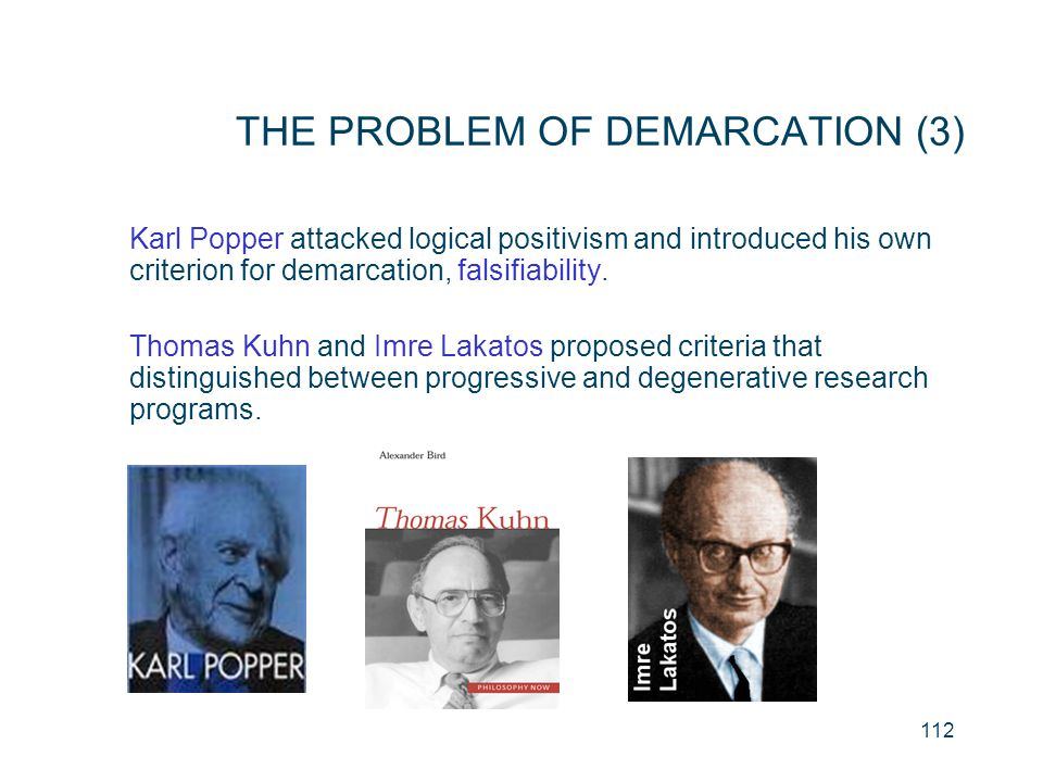 THE PROBLEM OF DEMARCATION (3)