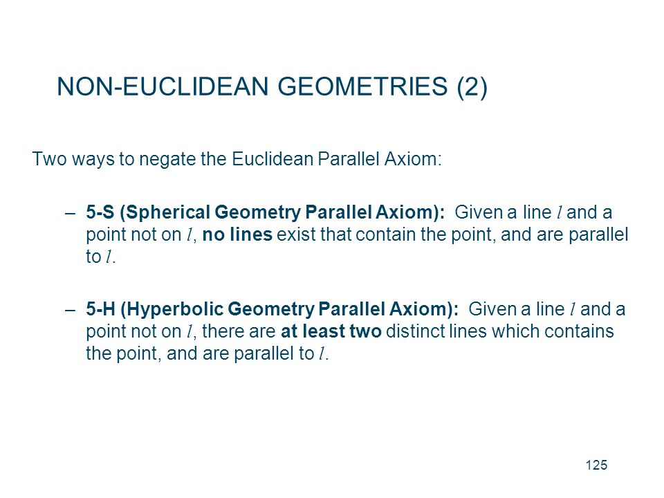 NON-EUCLIDEAN GEOMETRIES (2)
