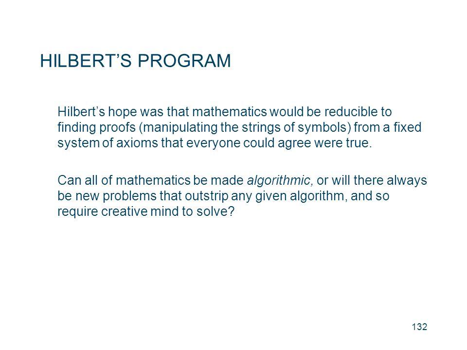 HILBERT'S PROGRAM