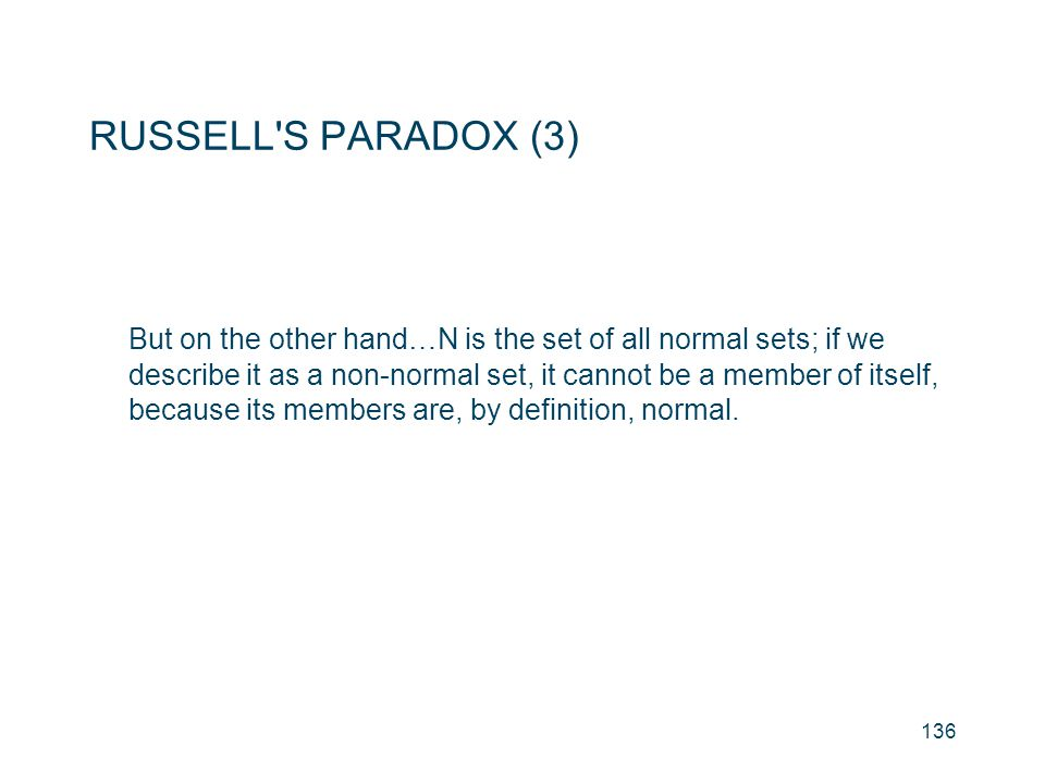 RUSSELL S PARADOX (3)