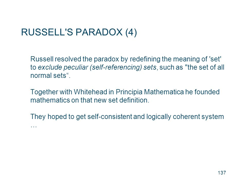 RUSSELL S PARADOX (4)