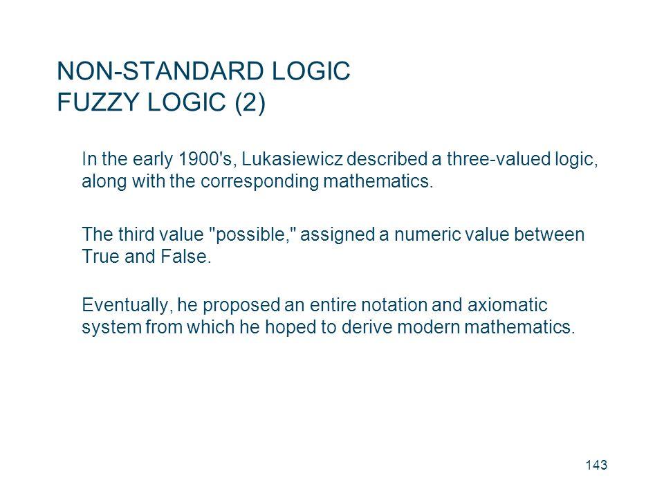 NON-STANDARD LOGIC FUZZY LOGIC (2)
