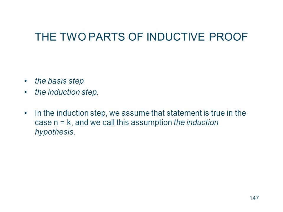 THE TWO PARTS OF INDUCTIVE PROOF