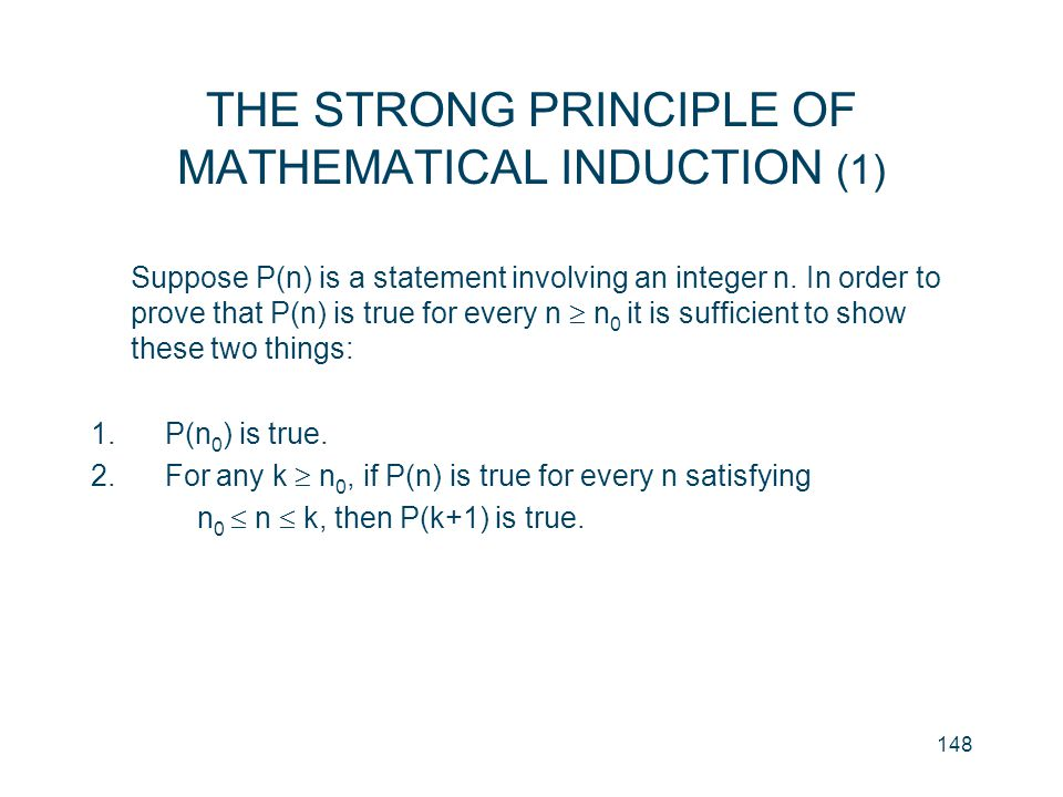 THE STRONG PRINCIPLE OF MATHEMATICAL INDUCTION (1)