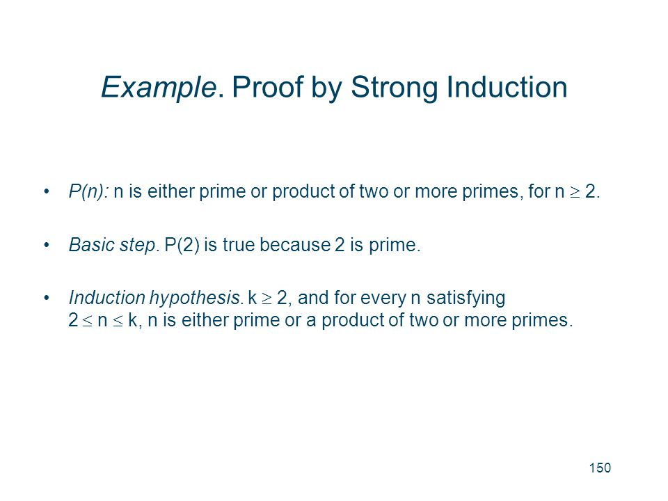 Example. Proof by Strong Induction