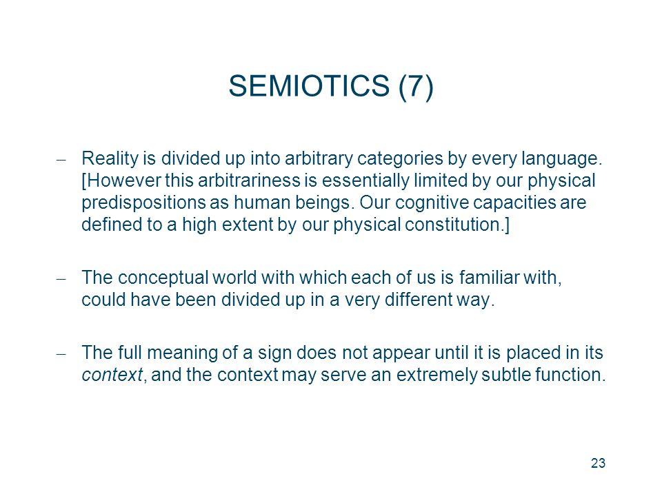 SEMIOTICS (7)