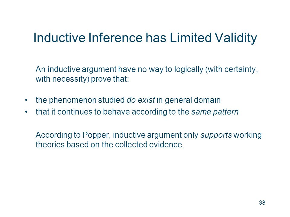 Inductive Inference has Limited Validity