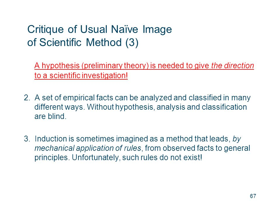 Critique of Usual Naïve Image of Scientific Method (3)
