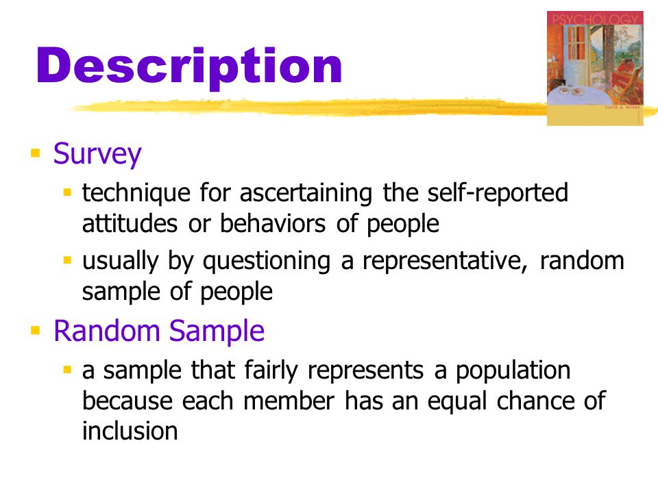 Description Survey Random Sample