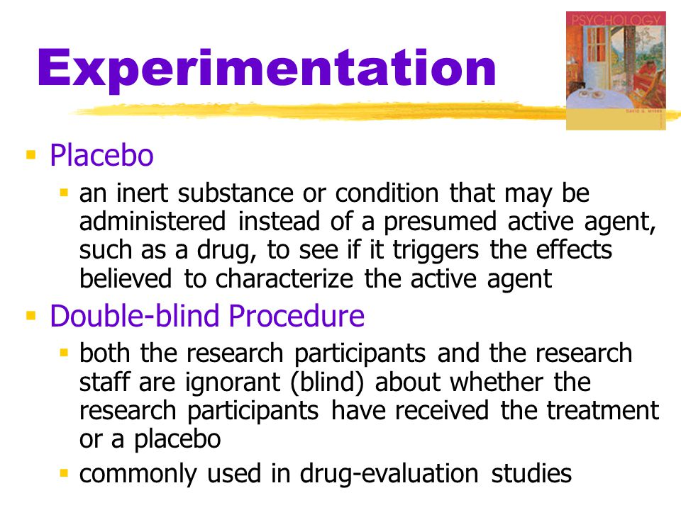 Experimentation Placebo Double-blind Procedure