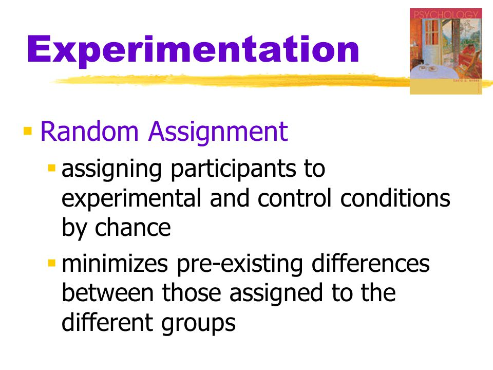 Experimentation Random Assignment