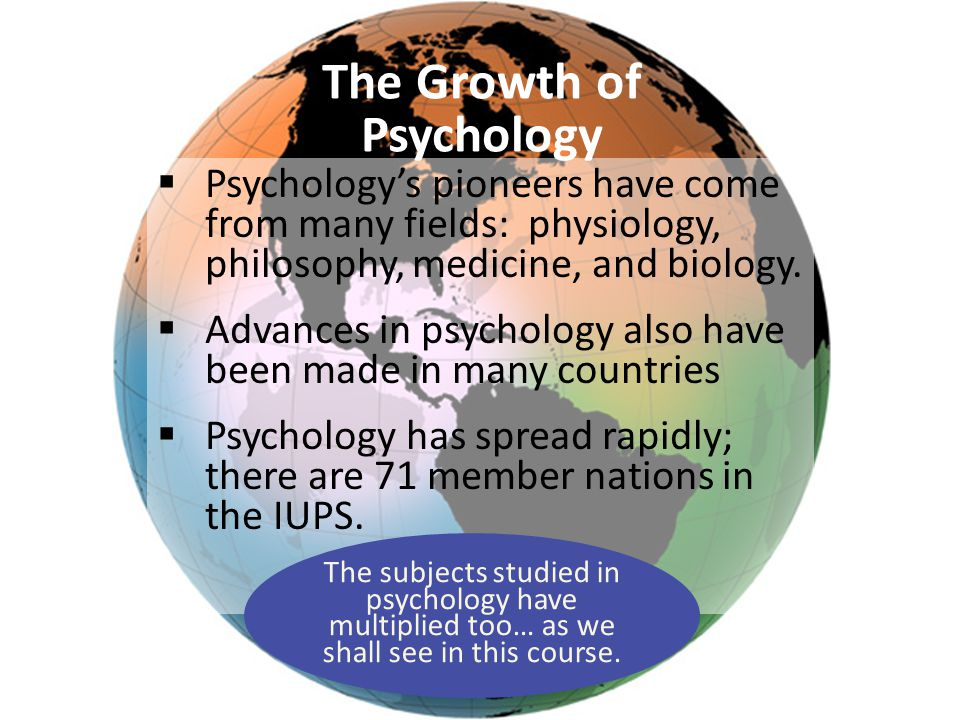 The Growth of Psychology