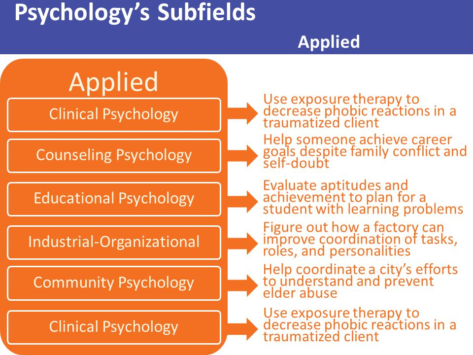 Psychology's Subfields Applied