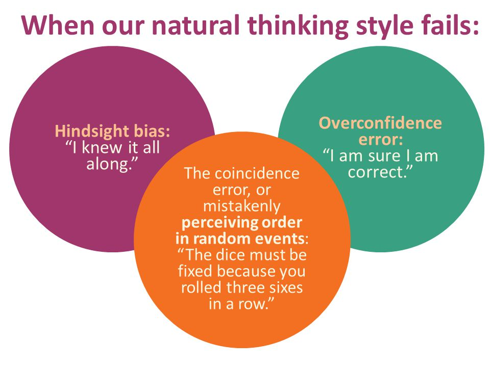 When our natural thinking style fails: