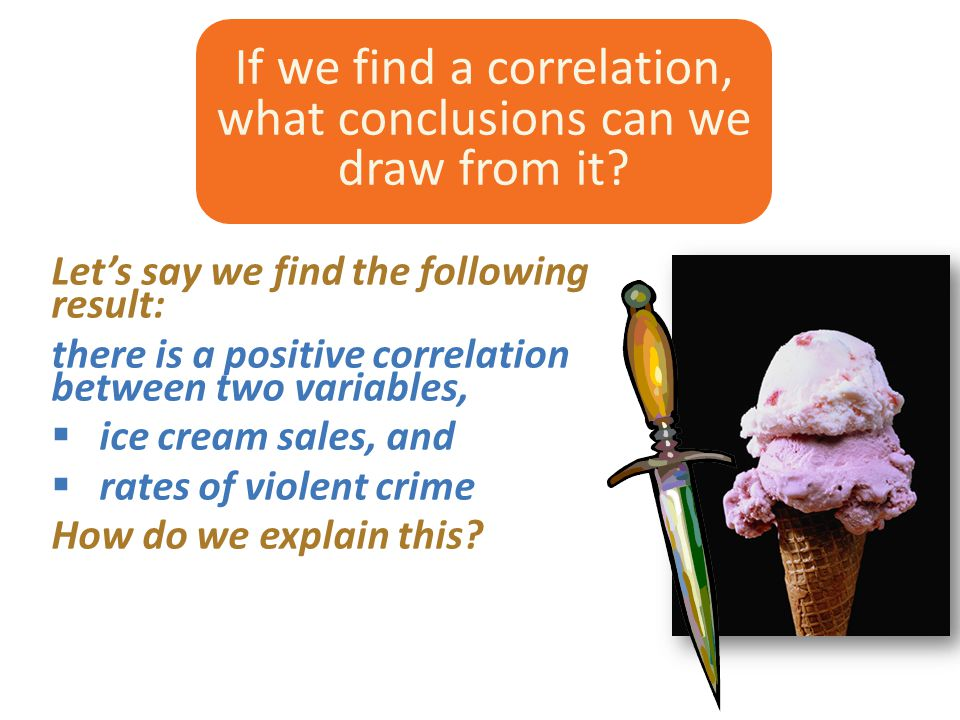 If we find a correlation, what conclusions can we draw from it