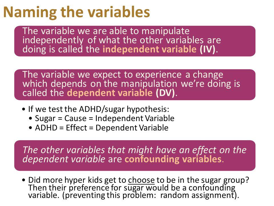 Naming the variables