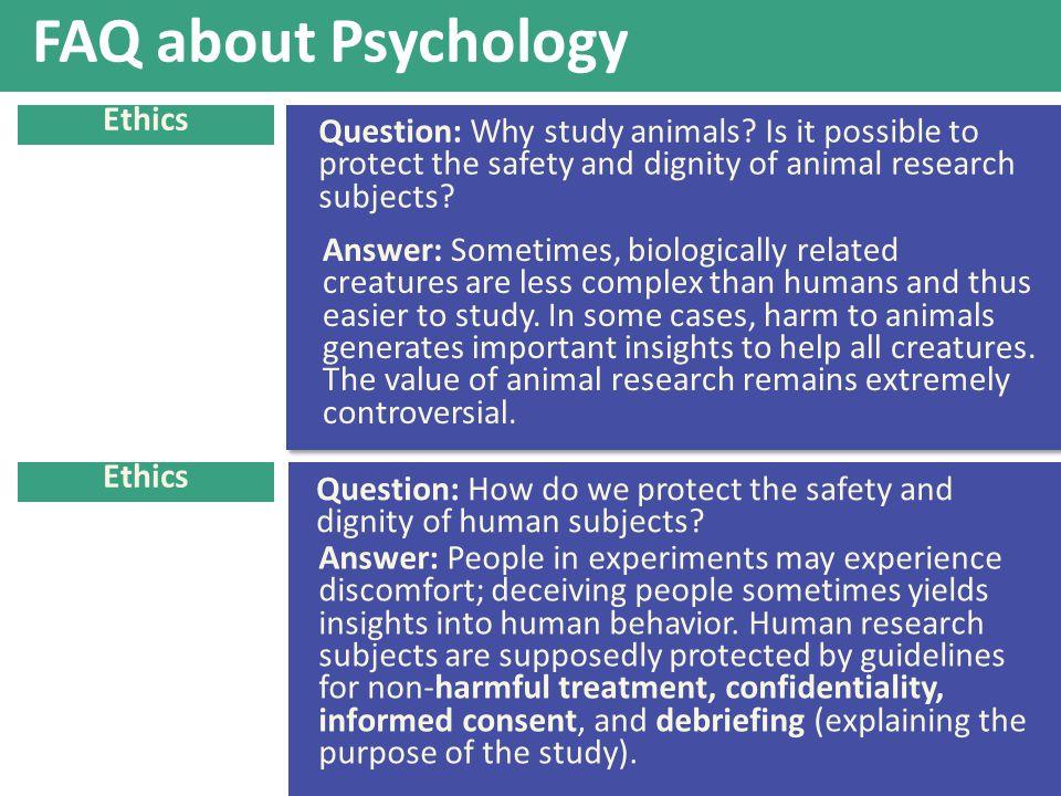 FAQ about Psychology Ethics