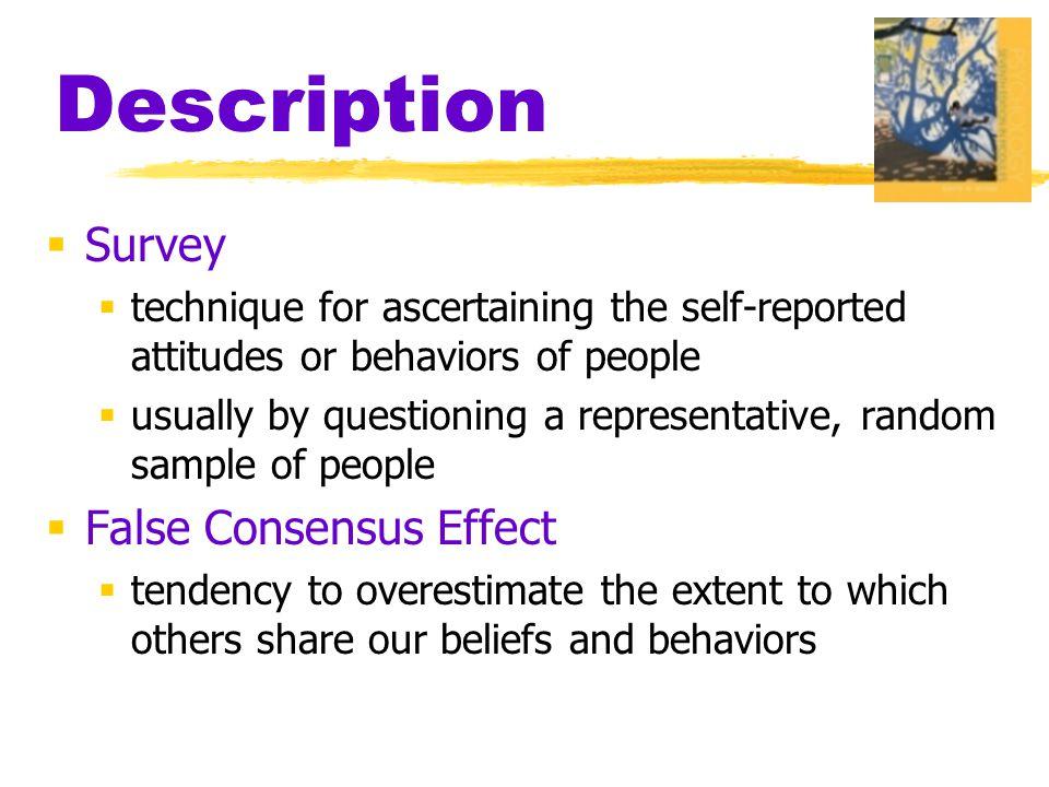 Description Survey False Consensus Effect