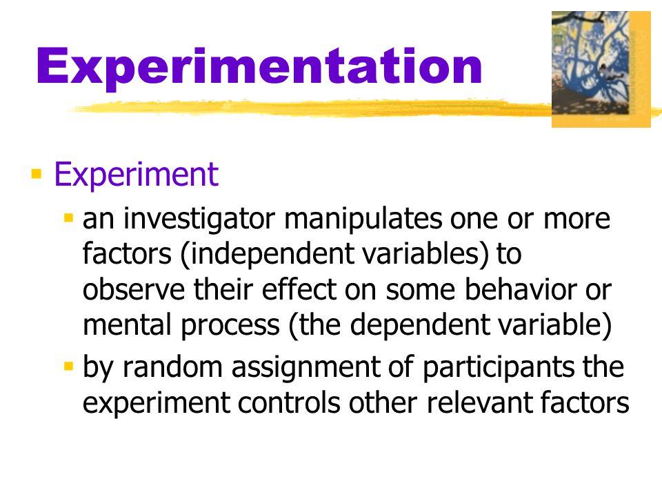Experimentation Experiment